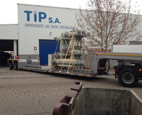 Tipsa Transporte Alta Tecnología centrales eléctricas